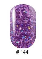 Гель-лак G.La color UV Gel Lacquer 144 (фиолетовый с чешуей и шиммерами),10 мл.