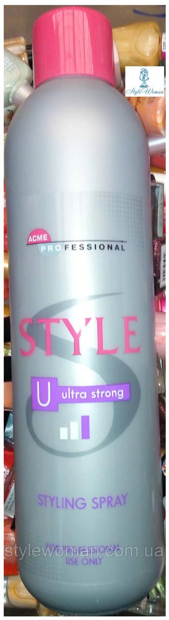 Жидкий лак для волос ACME- Professional Style ультра сильной фиксации 1000мл