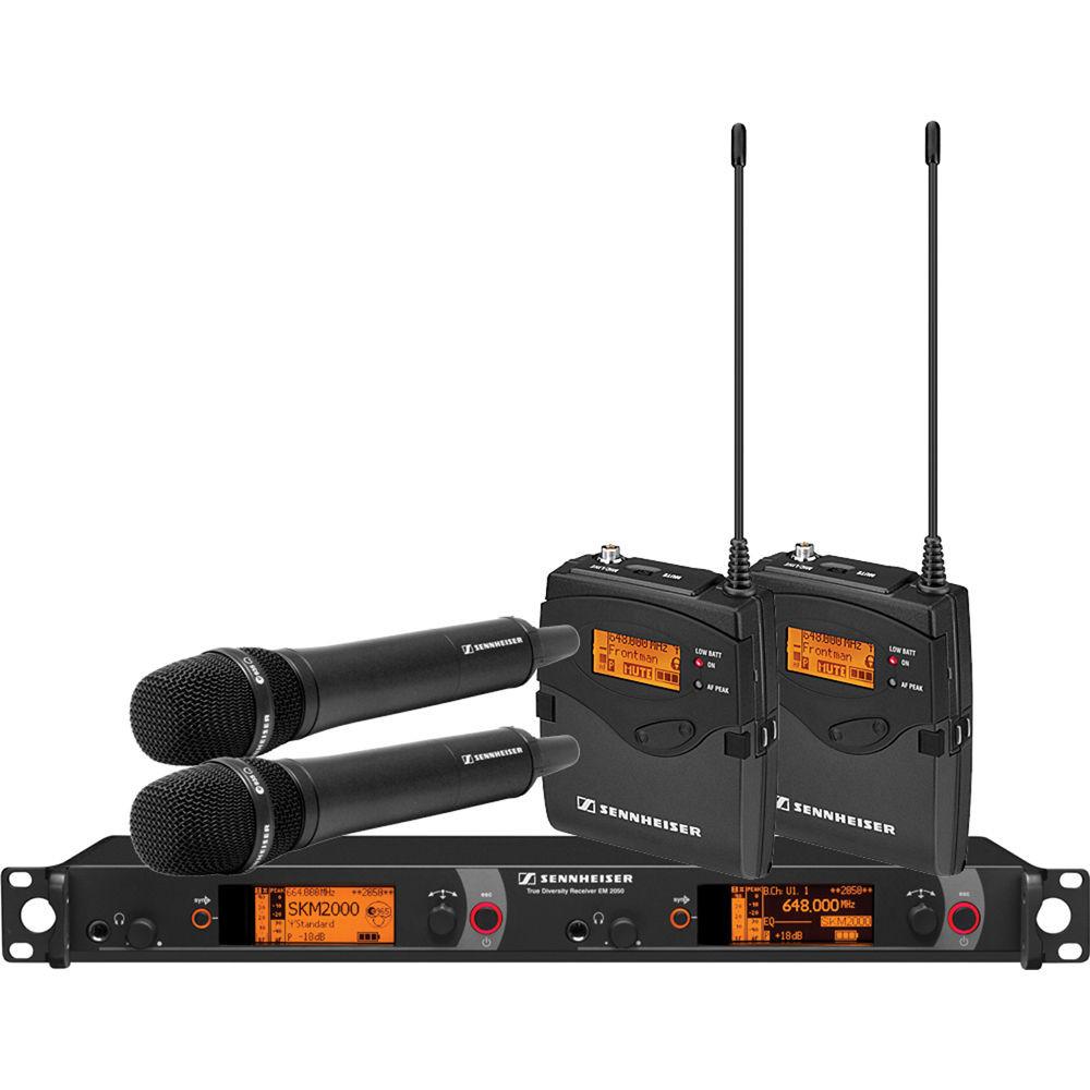 Беспроводная микрофонная система Sennheiser 2000 Series Dual Combo B / 626 - 698MHz (2000C2-935BK-B)