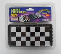 Игра 6637 настольная Шахматы +шашки на магнитах в блистере