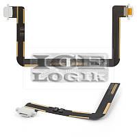 Шлейф для планшета Apple iPad Air (iPad 5), белый, коннектора зарядки, с компонентами