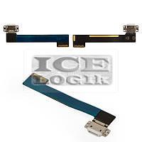 Шлейф для планшета Apple iPad Mini 4, коннектора зарядки, с компонентами, белый