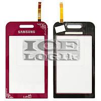 Сенсорный экран для мобильного телефона Samsung S5230 Star, бордовый, la fleur