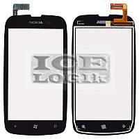 Сенсорный экран для мобильного телефона Nokia 610 Lumia, черный