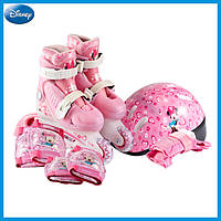 Ролики DISNEY Минни 30-33, шлем, защита