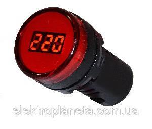 Цифровий вимірювач напруги AD22-22DVM (червоний)