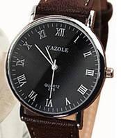 Кварцевые часы Yazole (brown) - гарантия 6 месяцев