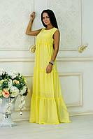 Платье из шифона Белла желтый