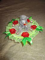 Одноигрушечный букет с мишкой Тедди в салатовом