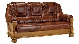 Шкіряний диван Roma, не розкладний диван, м'який диван, меблі з шкіри
