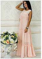 Платье из шифона Белла пудра
