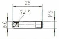 Токовый наконечник М6*25 fi 0.6