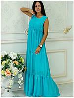 Платье из шифона Белла ментол
