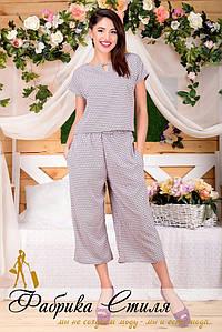 Женский летний костюм с бриджами №153-5003