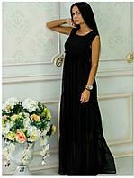 Платье из шифона Белла черный
