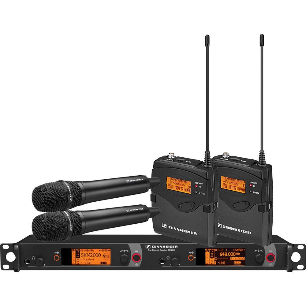 Беспроводная микрофонная система Sennheiser 2000 Series Dual Combo B / 626 - 698MHz (2000C2-865BK-B)