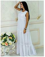 Платье из шифона Белла белый