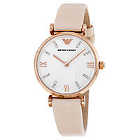 Часы Emporio Armani White Dial Pale Pink Leather Strap AR1927