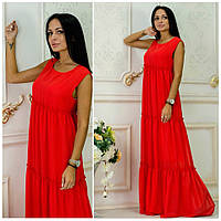 Платье из шифона Белла красный