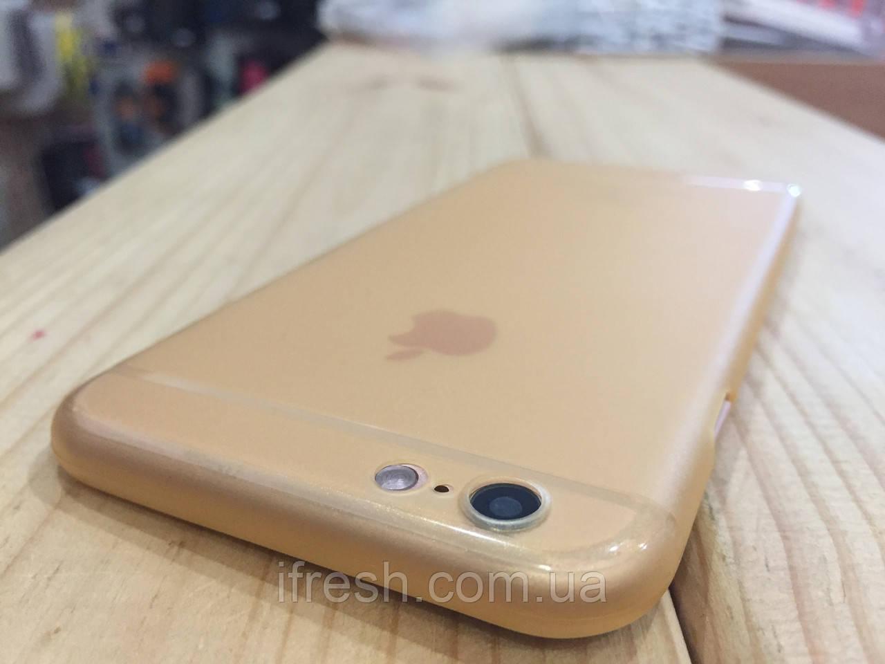 Ультратонкий чехол Saiskai для iPhone 6/6s, золотой