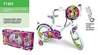 "Велосипед Disney Princess 16"" со звонком и зеркалом  F1601"