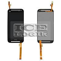 Дисплей для мобильного телефона HTC Desire 608t, черный, с сенсорным экраном
