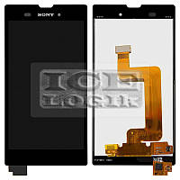 Дисплей для мобильных телефонов Sony D5102 Xperia T3, D5103 Xperia T3, D5106 Xperia T3, черный, с се