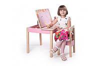 Стол-парта с фотопечатью SP-8.34 Венге светлый/Розовый (ТМ Вальтер)
