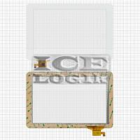 "Сенсорный экран для планшетов China-Tablet PC 10,1""; Ritmix RMD-1027, белый, емкостный, 12 pin, (259"