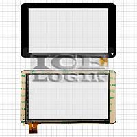 """Сенсорный экран для планшета China-Tablet PC 7"""", 7"""", 30 pin, емкостный, черный, (186*106 мм), #GF703"""