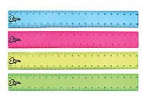 1Вересня Линейка 20см прозрачная цветная арт. 370332
