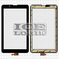 """Сенсорный экран для планшетов China-Tablet PC 7""""; Supra M722G, 7"""", 10 pin, емкостный, черный, (185*1"""