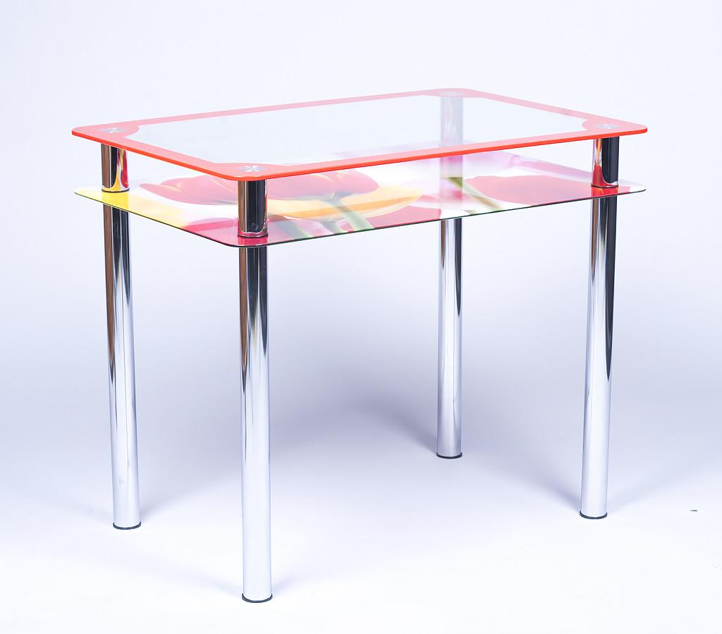 Стол кухонный стеклянный Рамка-Фотопечать 91х61 *Эко (Бц-Стол ТМ)