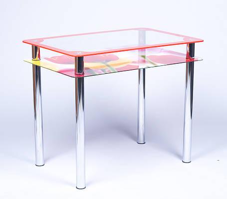 Стол кухонный стеклянный Рамка-Фотопечать 91х61 *Эко (Бц-Стол ТМ), фото 2