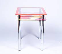 Стіл кухонний скляний Рамка-Фотодрук 91х61 *Еко (Бц-Стіл ТМ), фото 3