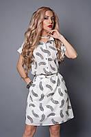 Платье мод 475-17,размер  50-52 белое перо