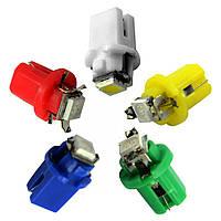 Светодиодная лампа цоколь T5 (W1.2W) 8.5D BAX10d, панель 15х19мм,1-SMD 5050, 15Lm, 12В