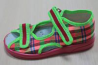Тапочки на девочку Zetpol Зетпол, польская детская текстильная обувь р.20,21