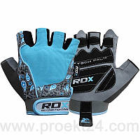 Перчатки для фитнеса женские RDX Blue-M