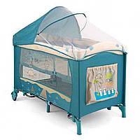 Кроватка-манеж Milly Mally Mirage Deluxe 2015 BLUE-BIRD - Del02