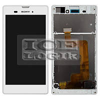 Дисплей для мобильных телефонов Sony D5102 Xperia T3, D5103 Xperia T3, D5106 Xperia T3, белый, с рам