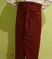 Фартук для официанта цвет бордовый