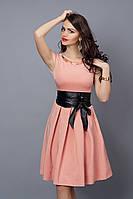 Платье  мод 386-6 размер 46 пудра