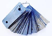 Пластины (бичи) на ротор молотковый для зернодробилки Эликор