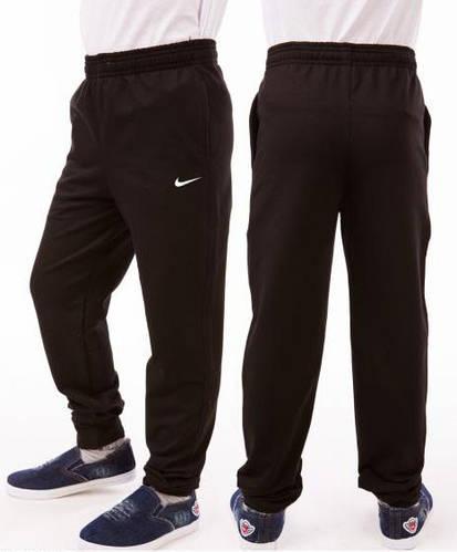 Спортивные штаны детские для мальчика Nike (Найк) на манжетах трикотажные двунитка черного цвета Украина