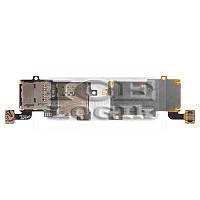 Коннектор SIM-карты для мобильного телефона Samsung I9300 Galaxy S3, с коннектором карты памяти, со