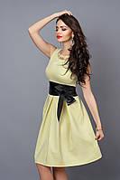 Платье  мод 386-10 размер 42,44, бледно-желтое