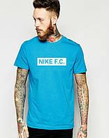 Бирюзовая яркая стилная Футболка мужская Найк Nike