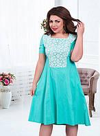 Нарядные летние платья из стрейч-льна (в расцветках)
