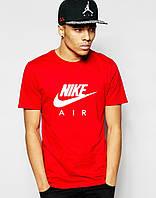 Футболка чоловіча червоного кольору  Nike трикотаж